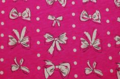 Anita G Bow Time Novelty Cotton Knit Fabric. $8.00, via Etsy.