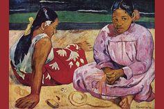 Tahitian Women on Beach