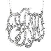 Diamond Monogram Necklace by Jane Basch