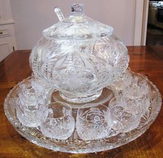crystal punch bowls - Google Search