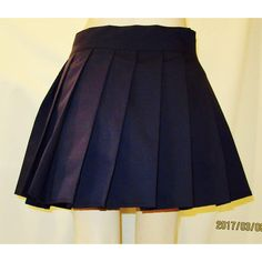Navy Blue Pleated Skirt~School Girl Navy Skirt~Anime Cosplay Skirt... ($20) ❤ liked on Polyvore featuring skirts, navy, women's clothing, navy skirt, long navy skirt, checked skirt, long blue skirt and blue skirt