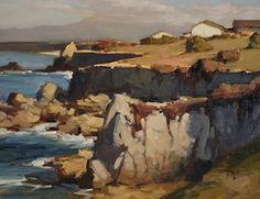 Brian Blood - Coastal Trail, Pacific Grove by Brian Blood Oil ~ 11 x 14