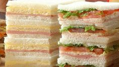 Toma un sandwich / Tea Sandwiches, Sandwich Cake, Sandwich Jamon Y Queso, Argentine Recipes, Good Food, Yummy Food, Easy Smoothie Recipes, Snacks Für Party, Savoury Cake