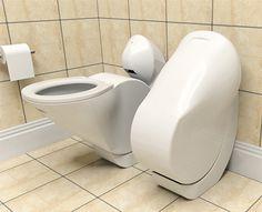 Folding water economy toilet