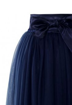 Amore Maxi Tulle Prom Skirt in Navy - Tulle Skirt - TREND AND STYLE - Retro, Indie and Unique Fashion