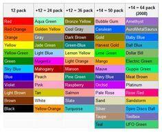 crayola colored pencil color set colors