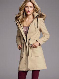 Victoria's Secret - Wool Hooded Anorak