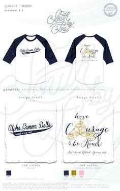 Alpha Gamma Delta | AGD | Have Courage and Be Kind | Cinderella Theme T-Shirt Design | Sisterhood Retreat | South by Sea | Greek Tee Shirts | Greek Tank Tops | Custom Apparel Design | Custom Greek Apparel | Sorority Tee Shirts | Sorority Tanks | Sorority Shirt Designs