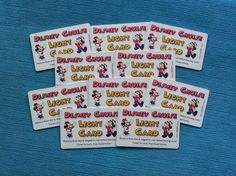 10 Mickey and Minnie Disney Cruise DCL Light Cards for Fish Extender FE Gift