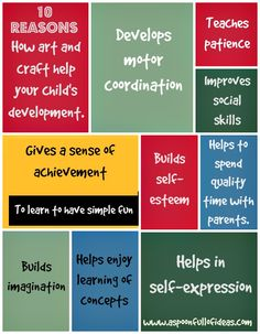 How does art and craft help your child's early development? - http://aspoonfullofideas.com/blog/how-does-art-and-craft-help-your-childs-early-development/
