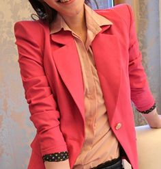 CT80 Autumn New Fashion Top grade Womens' Elegant shrug Suit Brand slim outwear OL casual coat bright color quality Vogue-in Basic Jackets from Women's Clothing & Accessories on Aliexpress.com | Alibaba Group