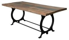 Dining Room table with metal base. Coast to Coast 43500 Dining Room Table modern dining tables