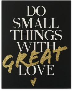 Wynwood Do Small Things With Great Love Canvas Wall Art