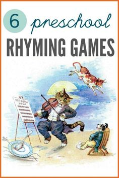 Preschool rhyme games for literacy skills.