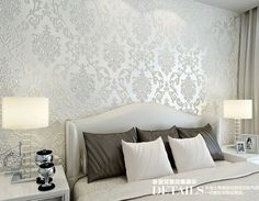 For living room bedroom TV background wall paper roll Free shipping Classic off white color wallpaper roll