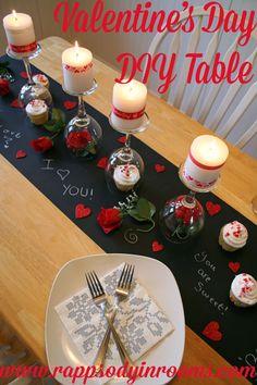 DIY Valentine's Day Table