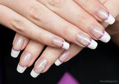 French manicure with white tip guides: French Manicure With Purple Glitter ~ fixstik.com Nail Designs Inspiration