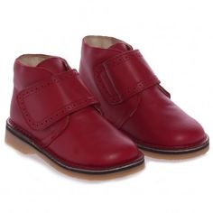Children s Classics Boys Red Velcro Leather Shoes at Childrensalon.com 6ae0a9183f4