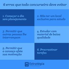Nunca cometerás nenhum desses erros! ✋ #estudos #concursos #concurseiros #vidadeconcurseiro #foco #determinacao #estrategia