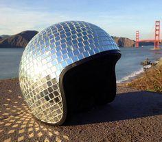 DIY Disco Ball Bike helmet - Eleanor's   Stylish Bicycle Accessories for Ladies