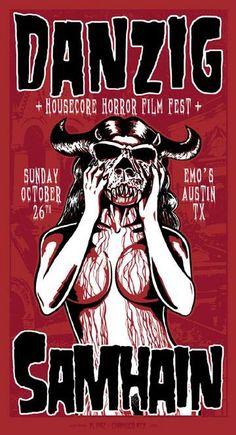 Danzig/Samhain concert poster