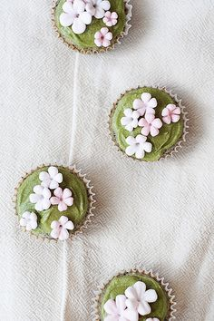 Black Sesame Cupcakes with Matcha Buttercream (by TheCulinaryCanucks)