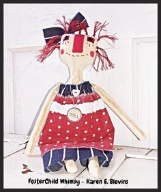 PIF With Red White and Blue by Debbie Dugan on Etsy