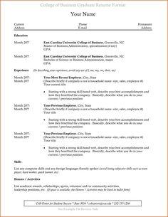 resume for college internship