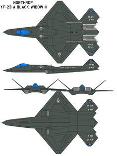 YF-23 Black Widow II | Northrop YF-23 Black Widow II by bagera3005 on deviantART
