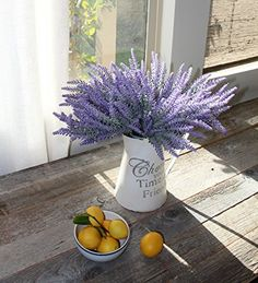 No one can tell if they're fresh from the florist or artificial lavender! Our lovely lavender artificial flowers are perfect for home or office decor. Plus, the beauty of these silk plants are welcome centerpieces to any dining table, as well as the conference table. Spritz some lavender oil on the petals of this