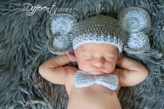 Newborn Elephant Hat and Diaper Cover by Briana K Crochet