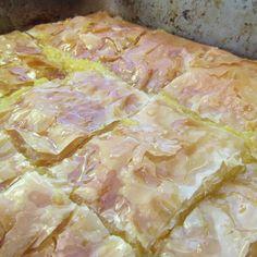 Vegan Galaktoboureko Recipe  Greek semolina custard baked in phyllo pastry and drowned in syrup, this recipe is like a hug from a yaiya!