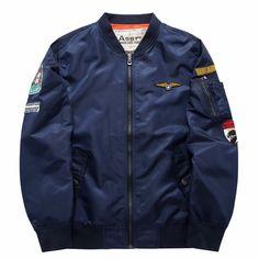 Dmart7deal Air Force One Pilot Jacket Men Chaquetas Hombre Casual Mens Jackets And Coats MA01 Bomber Jacket Men Army Green Blue