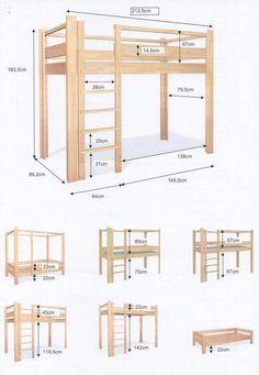 diy loft beds for small rooms ~ diy loft bed . diy loft bed for kids . diy loft bed for adults . diy loft beds for small rooms . diy loft bed for kids how to build . diy loft bed with desk . diy loft bed for kids boys Loft Beds For Small Rooms, Small Room Bedroom, Bedroom Loft, Trendy Bedroom, Diy Bedroom, Bedroom Storage, Build A Loft Bed, Loft Bed Plans, Diy Bed Loft