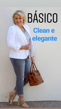 50 Moda e beleza: Inspirações e outras coisas sobre moda 60 Fashion, Over 50 Womens Fashion, Fashion Mode, Fashion Over 40, Plus Size Fashion, Fashion Beauty, Fashion Outfits, Fashion Tips, Fashion Trends