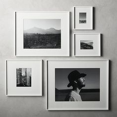 picture wall ideas Shop Gallery White Frames with White Mats. Exhibit your favorite photos and images gallery-style. White mat floats one photo within a sleek picture frame of bri Unique Picture Frames, Picture Frame Crafts, Photo Frame Ideas, Floating Picture Frames, Frames For Pictures, Wall Picture Frames, Picture Frame Display, Photo Frame Design