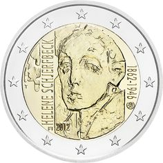 2 euro Anniversary of the Birth of Helene Schjerfbeck - 2012 - Series: Commemorative 2 euro coins - Finland Helene Schjerfbeck, French Coins, Euro Coins, Foreign Coins, Coin Art, Commemorative Coins, World Coins, Coin Collecting, Silver Coins