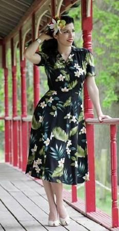1940s dress -Pearl harbour style