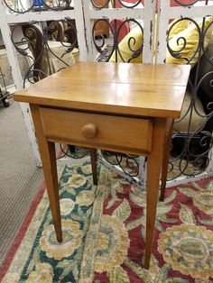 This pine side table is $79 #antique