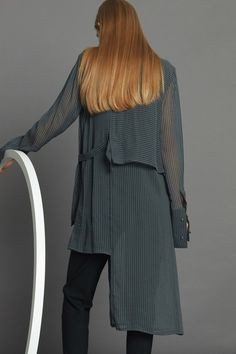 Assured Shirt Dress - Charcoal Stripe Minimal Beauty, Aw17, Winter White, Charcoal, Luxury Fashion, Dressing, The Incredibles, Shirt Dress, Collection