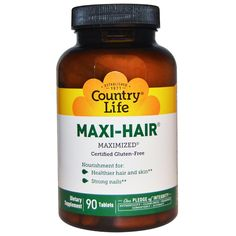 Country Life, Maxi-Hair, 90 Tablets #iherb daily deal! + $5 off your order with coupon AGU725 http://ca.iherb.com/country-life-maxi-hair-90-tablets/1714?rcode=agu725