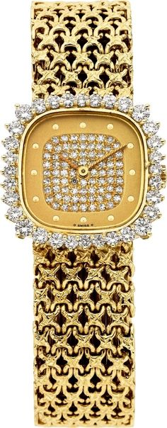 »✿❤️️️️️️️️️️️️️️️Golden❤️✿« Patek Philippe Lady's Diamond, Gold Wristwatch