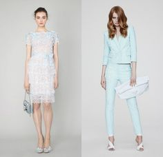 The Holiday / Resort 2014 Collections: Favorite Looks - Chic Galleria; Marchesa and Versace; Credit: http://www.style.com/fashionshows/collections/2014RST/