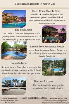 5 Best Beach Resorts in North Goa. Cute Smile Quotes, India Travel Guide, Goa India, Hard Rock Hotel, Travel List, Beach Resorts, Places To See, Travel Destinations, Tourism