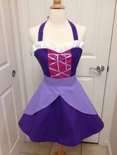 Rapunzel adult apron by AJsCafe on Etsy, $45.00