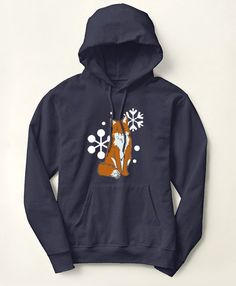 Winter Fox Hoodie - The Painting Pony - for the fox hunting equestrian horse…