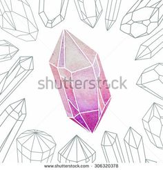 Image result for how to doodle crystals