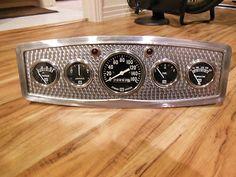 Vintage Stewart Warner 5 Gauge Panel Instrument Cluster SW Speedometer Hot Rod | eBay