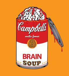 Brain Soup. Halloween zombie art