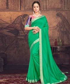Chanderi Silk Chanderi Silk Saree, Silk Sarees, Long Cut, Spring Sale, Blouse Online, How To Dye Fabric, Green Fabric, Head To Toe, Color Shades